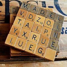 Scrabble coasters tutorial.