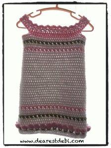 Crochet Spring Flower Dress - Free pattern by Dearest Debi