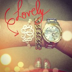 How Lovely!  Acrylic monogram bracelet by @Marley Medema Medema Medema Lilly #monograms