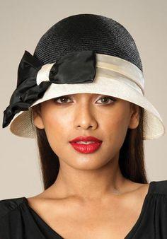 Lovely black white hat.
