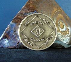 6 Year Narcotics Anonymous Vintage NA Medallion Coin Chip Token