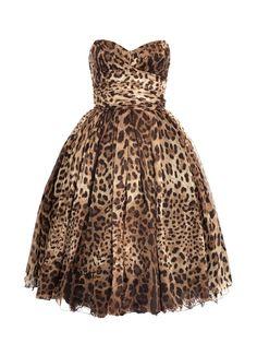 Cheetah Print Strapless Dress leopard parti, party dresses, style, cheetah print, strapless dress