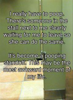 Pooping standoff.....