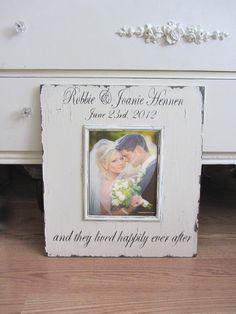 custom wedding frame