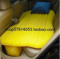 backseat inflatable bed. Genius!