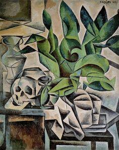 BOHUMIL KUBISTA  Still Life with Skull (1912)