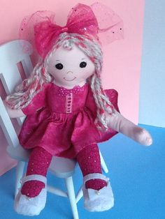 PDF Cloth Rag Doll Pattern Fuchsia    Great by PeekabooPorch, $9.00