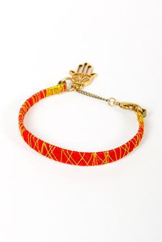 N+n color blocked bracelet - Red/Gold