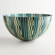 Giant Aqua Arrows Bowl at Cost Plus World Market >> #WorldMarket Africa Collection