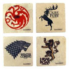 Game of Thrones House Sigil Stone Coaster Set