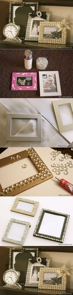 idea, craft, mothers day, picture frames diy, diy dollar tree frame, glamor pictur, mother day gifts, pictur frame, diy projects