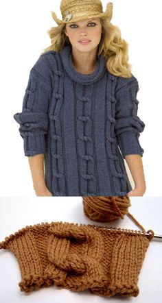 Photo tutorial walks you through the technique of tying knots in your knitting.