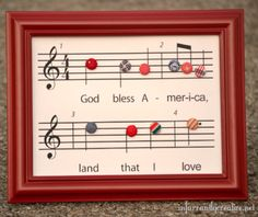 Patriotic Music Sheet Printable