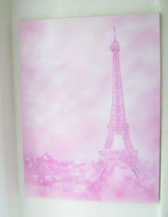 Pink Eiffel Tower  Canvas