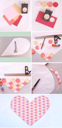 paper hearts, scallop paper, heart backdrop