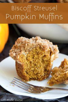 pumpkin muffin, food recip, pumpkin recipes, muffin recipes, sweet treats, biscoff streusel, delici biscoff, streusel pumpkin, dessert