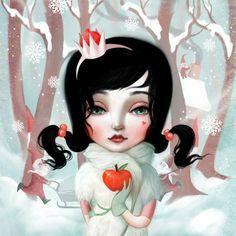 8X8 Snow White Print   poison apple illustration by Meluseena, $18.00