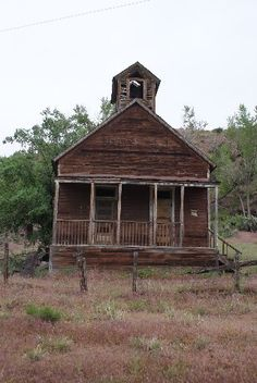 an old one room school house near New Castle, Colorado on Peach Valley Road