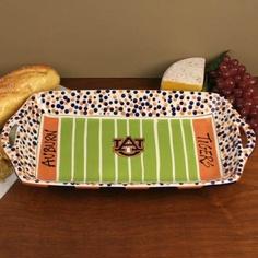 Gameday platter. I need one for my okie team! hedg, color, auburn tigers, auburn university, serving trays, magnolia lane, snack, war eagle, blues