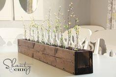 DIY Planter Box Centerpiece $10