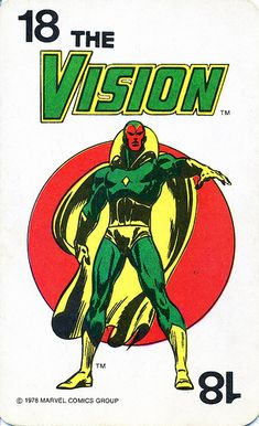 Marvel Comics Superheroes Game Card 18 - Vision by RedRaspus, via Flickr