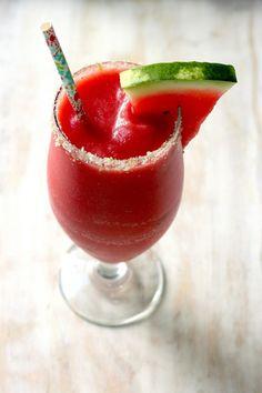 Best Ever Strawberry Watermelon Daiquiris