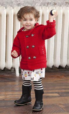 classic pea coat / crochet pattern