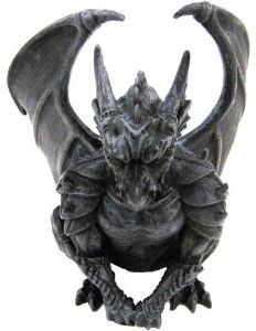 Guardian Winged Dragon Gargoyle Statue Medieval