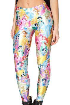 Disney Princess Leggings by Black Milk Clothing $85AUD