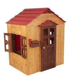 Take a look at this Red Playhouse by KidKraft on #zulily today!