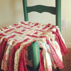 I am getting ready to do this to my worn out dumpster dive chair. :-) Woven Fabric Chair Seat