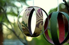 Christmas Paper Baubles