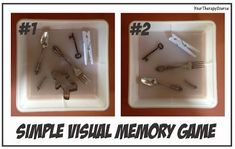 OT Activity of the Week: Simple Visual Memory Game  - pinned by @PediaStaff – Please Visit ht.ly/63sNtfor all our pediatric therapy pins