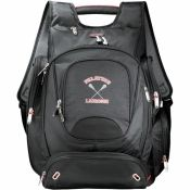 """elleven Checkpoint-Friendly Computer Personalized Backpack - This exclusive design has a designated laptop-only section that unfolds to lay flat on the X-ray belt to increase your speed, convenience and security. Side entry laptop compartment holds up to 17"""" laptops. Main zippered compartment with file divider, interior side pockets and removable TechTrap elastic organizer panel."""