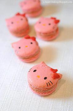 Rhubarb Hello Kitty Macarons