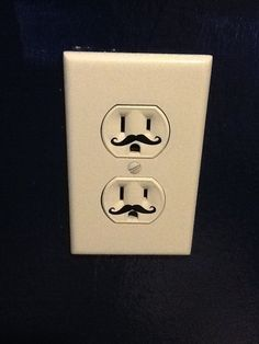 I think I should put these mustaches on just one of my sockets and see if anyone notices.