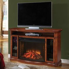 Costco: Muskoka® Stewart Pecan Media Electric Fireplace