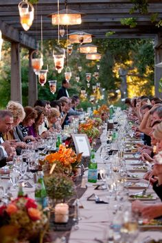 Love the feel of a long table...
