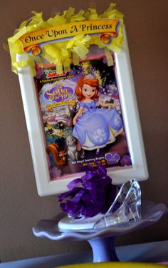 Decorations from a Sofia the First Party #sofia #party