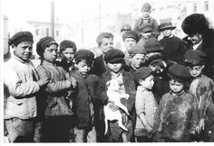 Italian Vintage Photographs ~ #Italy #Italian #vintage ~ Little neapolitan street boys ready to embark on kindergarten