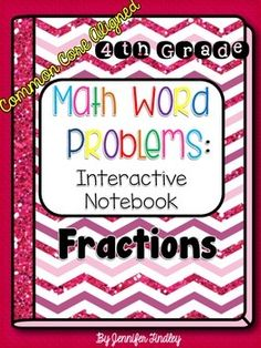 Interactive Math Notebook that focuses on Word Problems. Great for Common Core and constructed response tests. $