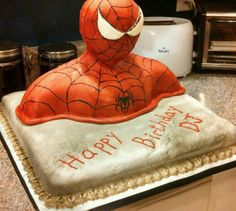 spiderman cake, uniqu cake