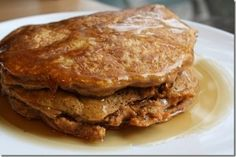 Sweet Potato Pancakes. A protein packed breakfast that is quick and easy.
