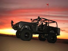 Nice shade of black with the sunset at the dunes!