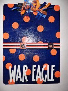 Auburn War Eagle clipboard