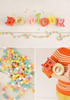 #DIY mini-marquee sign with lights   Love the idea !