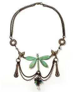 """Dragonfly Willow"" by Mackie Mullane for Vintaj"