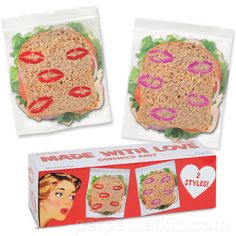 MADE WITH LOVE SANDWICH BAGS
