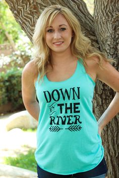 Down by the River Tank www.licensetoboot.com #turquoise #tank #riverbank #countryoutfit
