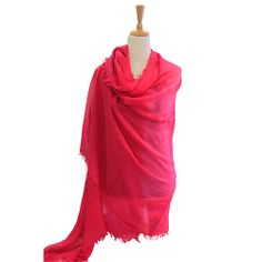 Stunning handmade cashmere scarves - lightweight and so amazing for travel.